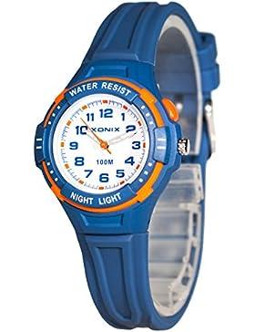 Analoge Armbanduhr XONIX für Kinder WR100m nickelfrei Licht, XOW7GA56GD/5