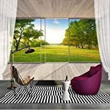 lsweia Benutzerdefinierte Wandbild Tapete 3D Raum Erweiterung Balkon Fenster Wald Landschaft Wandmalerei Murales De Pared
