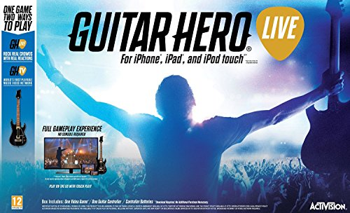 Price comparison product image Guitar Hero Live Guitar Bundle - Comes with Guitar Controller for (IOS) iPhone iPad iPod Touch (Mirror to TV using Apple TV)