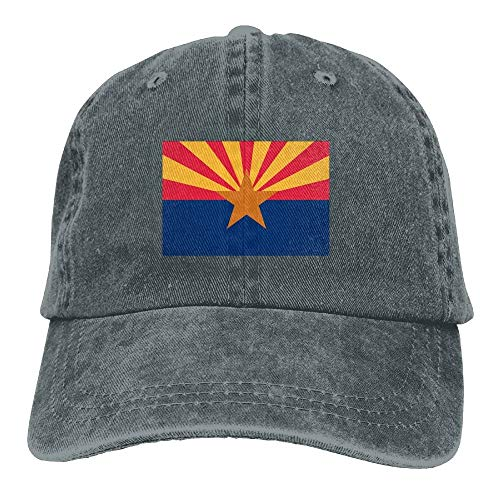 jiilwkie Nylon Arizona State Flag Vintage Twill Low Profile Baseball Cap -