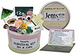Survival Kit In A Can, regalo divertente, per donna o per l'anniversario di matrimonio, regalo e biglietto tutto in uno, Regalo per donne, amiche, fidanzate, mogli e partner. - Pink/Cream