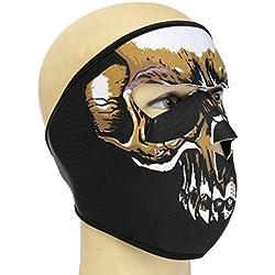 Jiacheng29 - Masque intégral avec motif graphique d'assassin et de tête de mort - Pour plein air, militaire, moto, ski, neige, cyclisme, sport , 6, taille unique