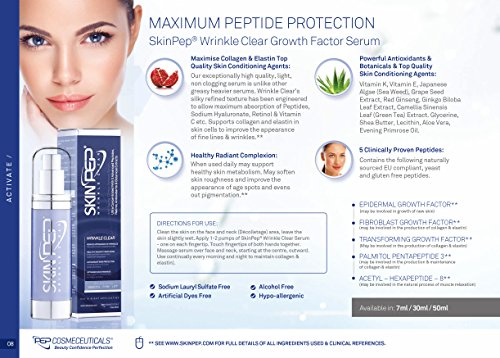 SkinPep WrinkleClear 50ml + Anti-Ageing + Peptides + Retinol