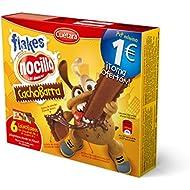 Cuetara ChocoBarra - Galleta rellena de crema Nocilla y cereales, 3 x 30 g