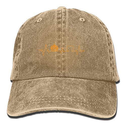 Xukmefat Pumpkin Heartbeat Halloween Unisex Baseball Cap Cowboy Hat Dad Hats Trucker Hat NN904