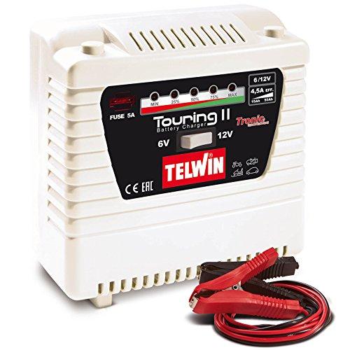 Preisvergleich Produktbild Telwin Elements TOURING 11 Autobatterie Ladegerät für 6V / 12V Batterien,  Ladestrom bis zu 4, 5 A,  Kapazität bis zu 55 Ah