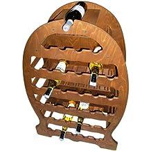 Panetta casalinghi scaffale per bottiglie, legno di betulla, naturale, 30x 30x 30cm