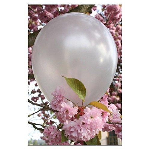 Hemore 30cm Latex Ballon Perlmutt Silber 20er Pack Dekorativer Ballon für Hochzeitsfest-Dekorationen/Jahrestag/Party/Party
