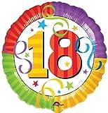 Folienballon Helium 18 Geburtstag Perfektion Luftschlangen mit Ballongas gefüllt 45cm