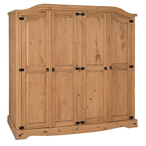 Mercers Furniture Corona 4 Door Arch Top Wardrobe