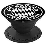 FC Bayern München Logo schwarz - PopSockets Ausziehbarer Sockel und Griff für Smartphones und Tablets