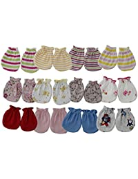 Aarushi (with device) Infants Cotton Mittens (Multicolour) - Pack of 12