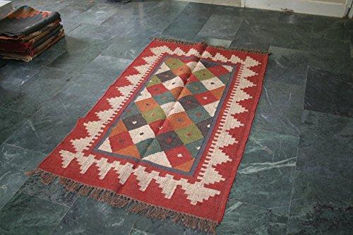 Alfombra Kilim turco de Anatolia hecho a mano lana yute área alfombra alfombra origen 36'x60'