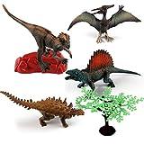 4pcs Dinosaurier Spielzeug Set Tierfigur aus Kunststoff für Kinder Lernspielzeug 15 * 4.5 * 7.5cm