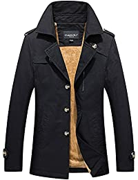 4ec12538ec65 Herren Trenchcoat Jacke Elegante Wintermantel Winterjacke Winter Herbst Jacket  Mantel Jacke Männer Parka