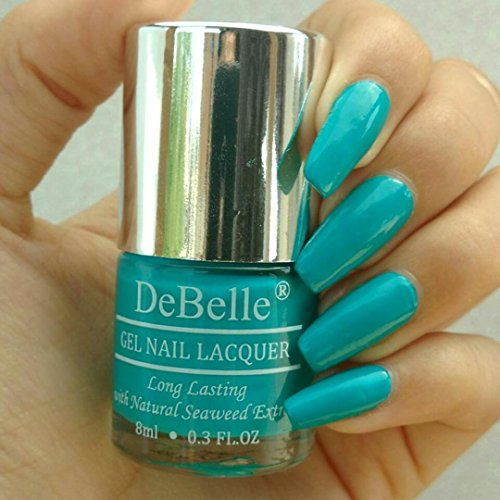 DeBelle Gel Nail Lacquer Royale\'Cocktail - 8 ml (Turquoise Blue Nail Polish)