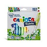 CARIOCA FABRIC | 40957 - Scatola Pennarelli Punta Maxi per Tessuti/Stoffa, Colori Assortiti, 12 pezzi