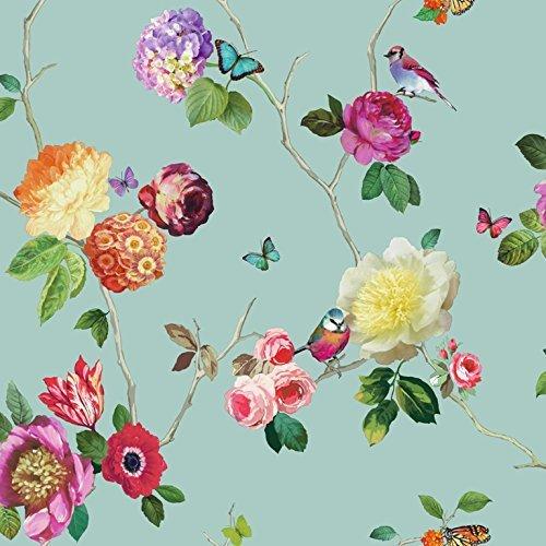Arthouse Papier Peint Motif Floral Rose Papillon Oiseau Kpaint Fr