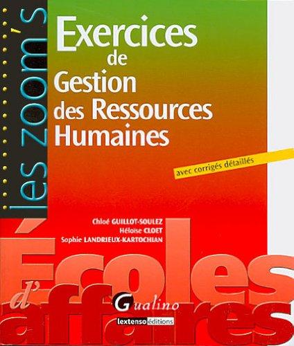 Exercices de Gestion des Ressources Humaines