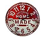 Orologio da Parete in Metallo Stile Vintage con Stampa in Rilievo Happiness Home Made Diametro 40 cm