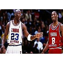 Poster Michael Jordan Kobe Bryant Basket NBA Wall Art