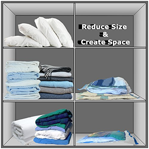 Vacwel-Vacuum-Bags-Storage-Space-Saver-packs-Includes-Extra-Strong-Jumbo-and-Large-bags-for-Garment-and-Blankets-Compression