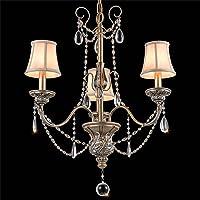 moda Americano lampadario Vintage Village Ferro di cristallo minimalista salotto pranzo stanza della televisione Bar lampadario Nobile ed elegante