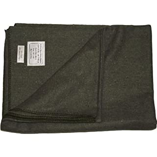 New Military Style Heavy Wool Blanket (Olive Green)