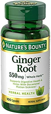 Nature's Bounty, Ginger Root, 550 mg, 100 Capsules by Nature's Bounty