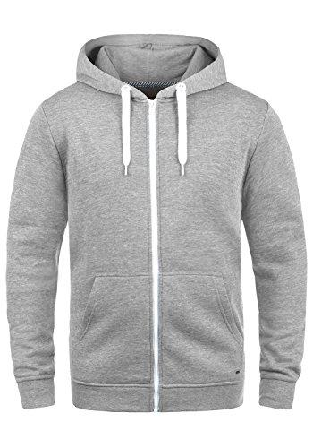 !Solid Olli ZipHood Herren Sweatjacke Kapuzenjacke Hoodie Mit Kapuze Reißverschluss Und Fleece-Innenseite, Größe:L, Farbe:Light Grey Melange (8242)
