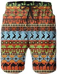 BOLAWOO-77 Ragazzi da Uomo Africano Modello da Bagno Pantaloni Casuali Mode  di Marca Pantaloni 72d13324e22f
