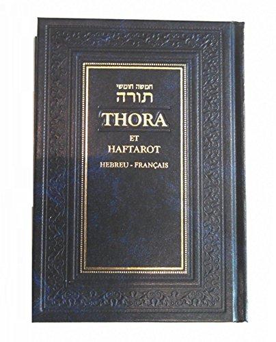 livre de la Torah juive, imprimer en hébreu avec traduction francaise par traduit a partir du texte original par les members du rabbinat francais sous la direction du grand rabbin zadoc kahn