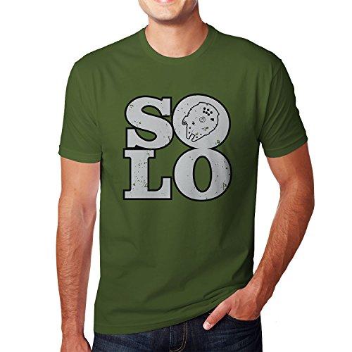 Planet Nerd - Solo Ship - Herren T-Shirt, Größe L, oliv