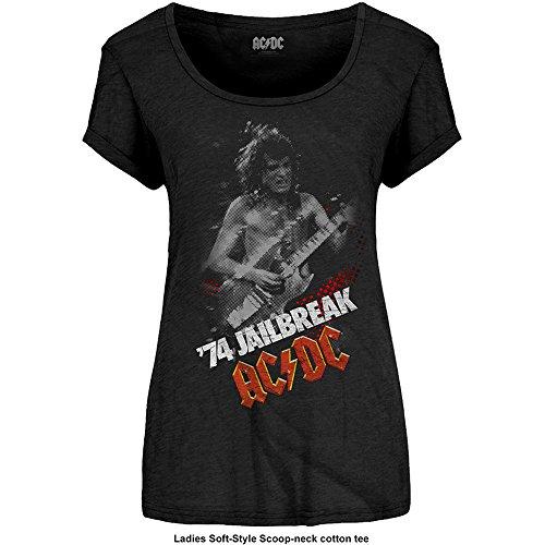 Ladies ACDC Jailbreak Angus Young Rock ufficiale Donne maglietta signore Nero
