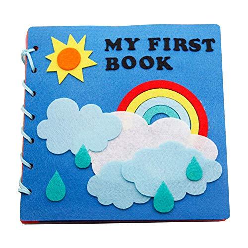 Libros De Tela para Bebés Libro Activity Bebé Libro Blando Bebe para Montessori Early Educational Kindergarten Libro De Fotografía Hecho En Casa para Niños Kit De Bricolaje