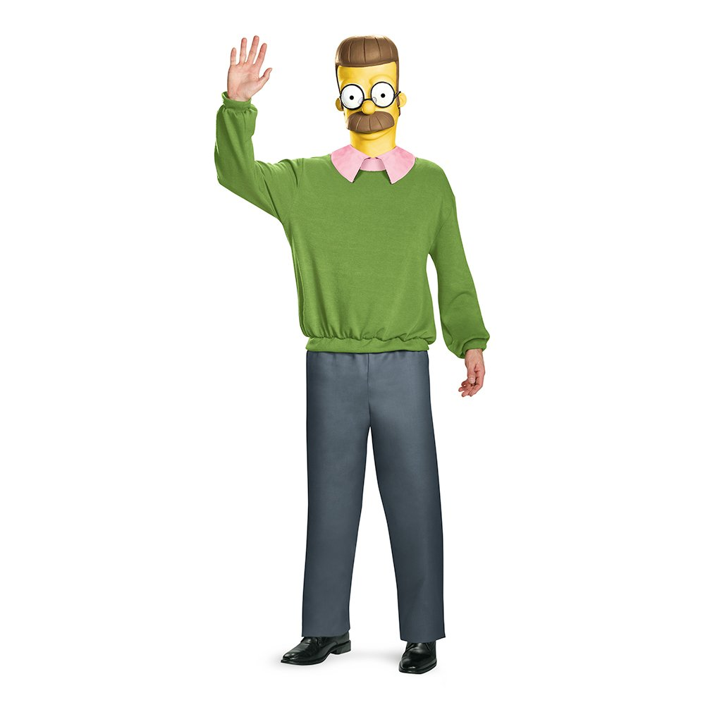 Disguise Boys Ned Flanders Deluxe Adult Fancy dress costume ...