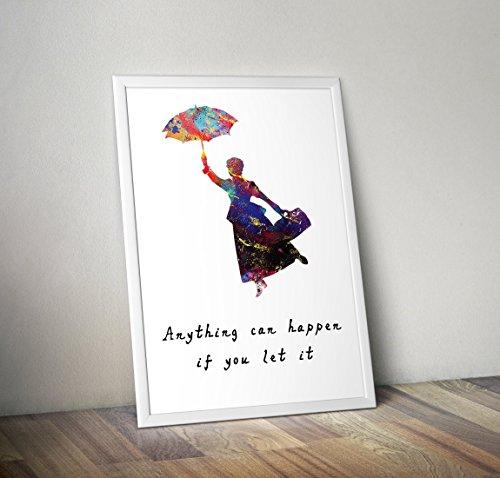 ert Aquarell Poster Print Geschenke - Alternative TV/Film Poster in verschiedenen Größen (Rahmen nicht im Lieferumfang enthalten) ()
