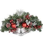 WeRChristmas - Campanelle decorate, da parete/porta, per addobbi natalizi, effetto ghiaccio, dimensioni: 30 cm