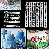 Outtybrave 6 Stück Kunststoff Alphabet Buchstaben Kuchen Ausstechformen Dekoration Keks Fondant Ausstechformen Lebensmittel Ausstecher Backwerkzeug