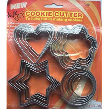 Bulfyss Cookie Cutter Stainless Steel With 4Shapes, 20 Pieces