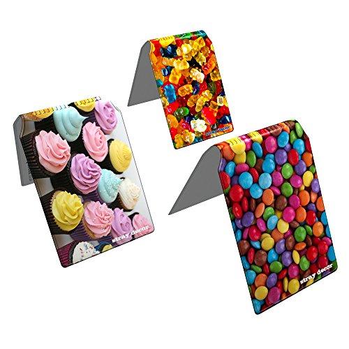 Stray Decor (Sweets Two) 3x Buspass/ Fahrkartenhalter im Brieftaschenformat, IsarCard, fahrCard, RMV Clevercard, Kolibricard oder Karteninhaber auf Reisen Kombi (Seite 2 Id-card-inhaber)