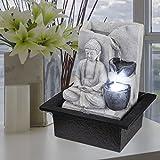 Globo LED Tisch Spring Brunnen Buddha Design Wasser Spiel Wohn Zimmer Dekoration Grau 93019