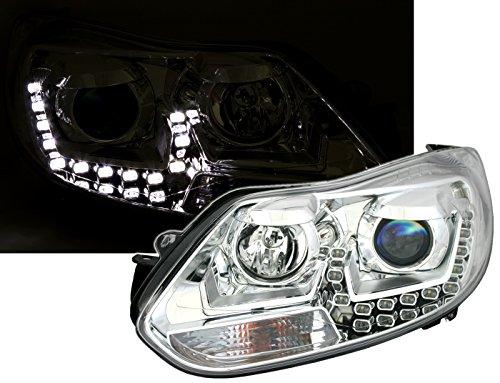 Scheinwerfer Set in Klarglas Chrom mit LED Tagfahrlicht Optik