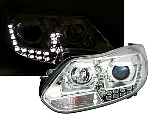 Eagle Eyes Scheinwerfer Set in Klarglas Chrom mit LED Tagfahrlicht Optik