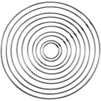 10 tamaños de anillo de metal de la soldadura del aro de hierro para DIY Dream Catcher Crafts decoración del hogar