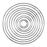 10pieza metal anillos pendientes de aro de metal Artesanía Metal Hoops metal anillos metal Hoops para–Atrapasueños para herramienta y decoración Proyectos, 10tamaños
