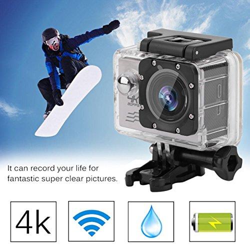 Preisvergleich Produktbild Professionelle Tätigkeits-Kamera-Set EK7000 Ultra HD Wireless-Sport-Action-Kamera (Farbe: silber)