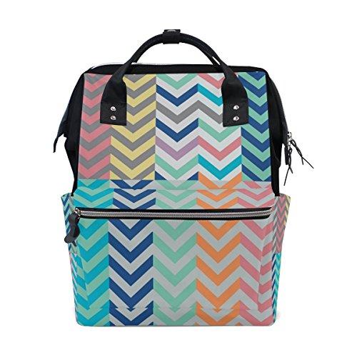 COOSUN Köcher voller Pfeile Passende Chevrons Windel-Tasche Rucksack, große Kapazitäts-Muti-Funktion Spielraum-Rucksack Groß mehrfarbig -