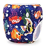 Storeofbaby Reusable Swim Diaper Washable One Size Adjustable Snaps Little Swimmer Beach Summer