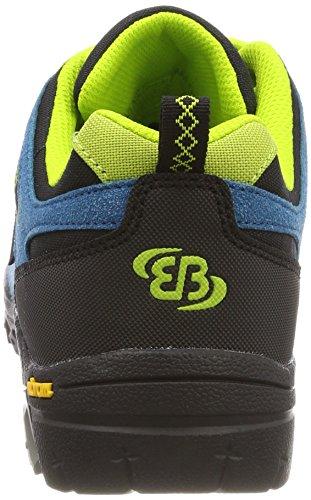 Bruetting Unisex-Erwachsene Mount Shasta Kids L Trekking-& Wanderhalbschuhe Blau (Petrol/Schwarz/Lemon)